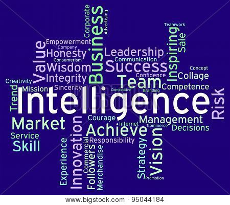 Intelligence Words Means Perception Clever And Intellect