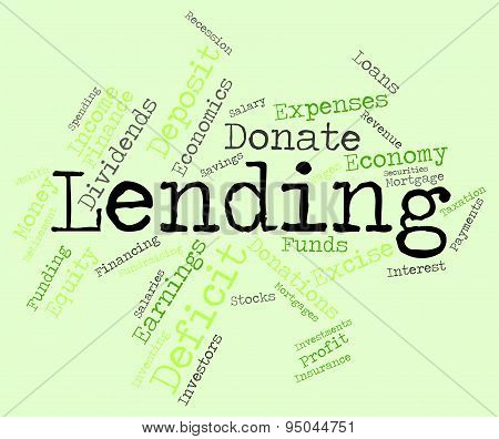 Lending Word Indicates Bank Loan And Advance poster