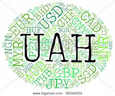 Uah Currency Indicates Foreign Exchange And Currencies
