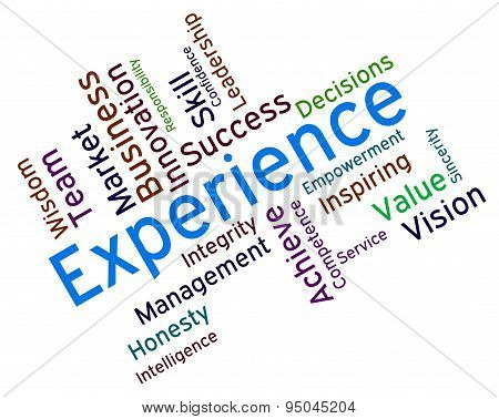 Experience Words Shows Competency Proficient And Professionally