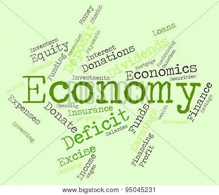 Economy Word Indicates Macro Economics And Economies