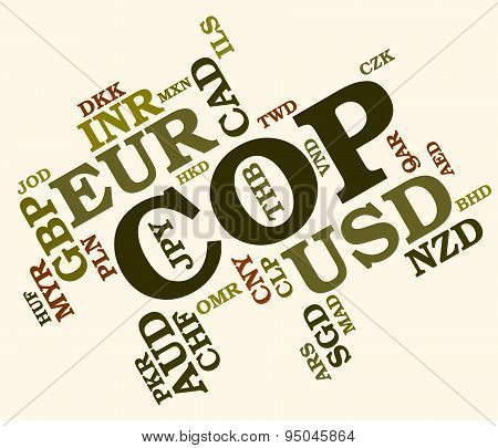 Cop Currency Represents Exchange Rate And Coin