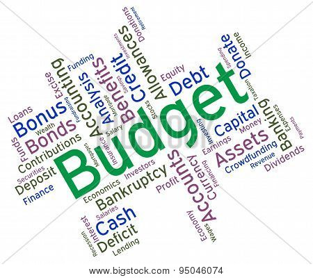 Budget Words Meaning Accounting Budgets And Wordcloud poster