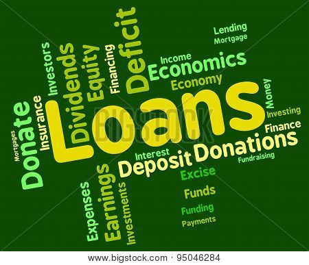 Loans Word Showing Borrow Wordcloud And Text poster