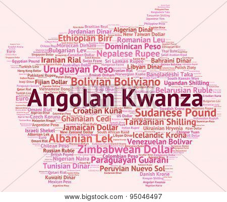 Angolan Kwanza Representing Foreign Exchange And Banknotes poster