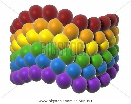 Lgbt Flag In Balloons
