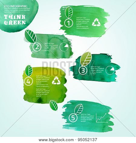 watercolour leaves infographic