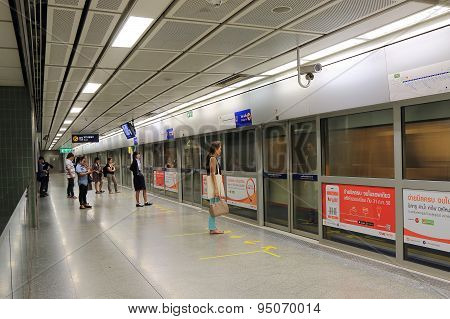 MRT subway station Bangkok Thailand
