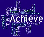 Achieve Words Indicating Victory Victorious And Achieving poster