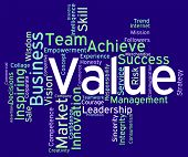 Value Words Representing Quality Assurance And Certified poster