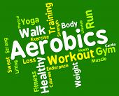 Aerobics Words Indicating Getting Fit And Cardio poster