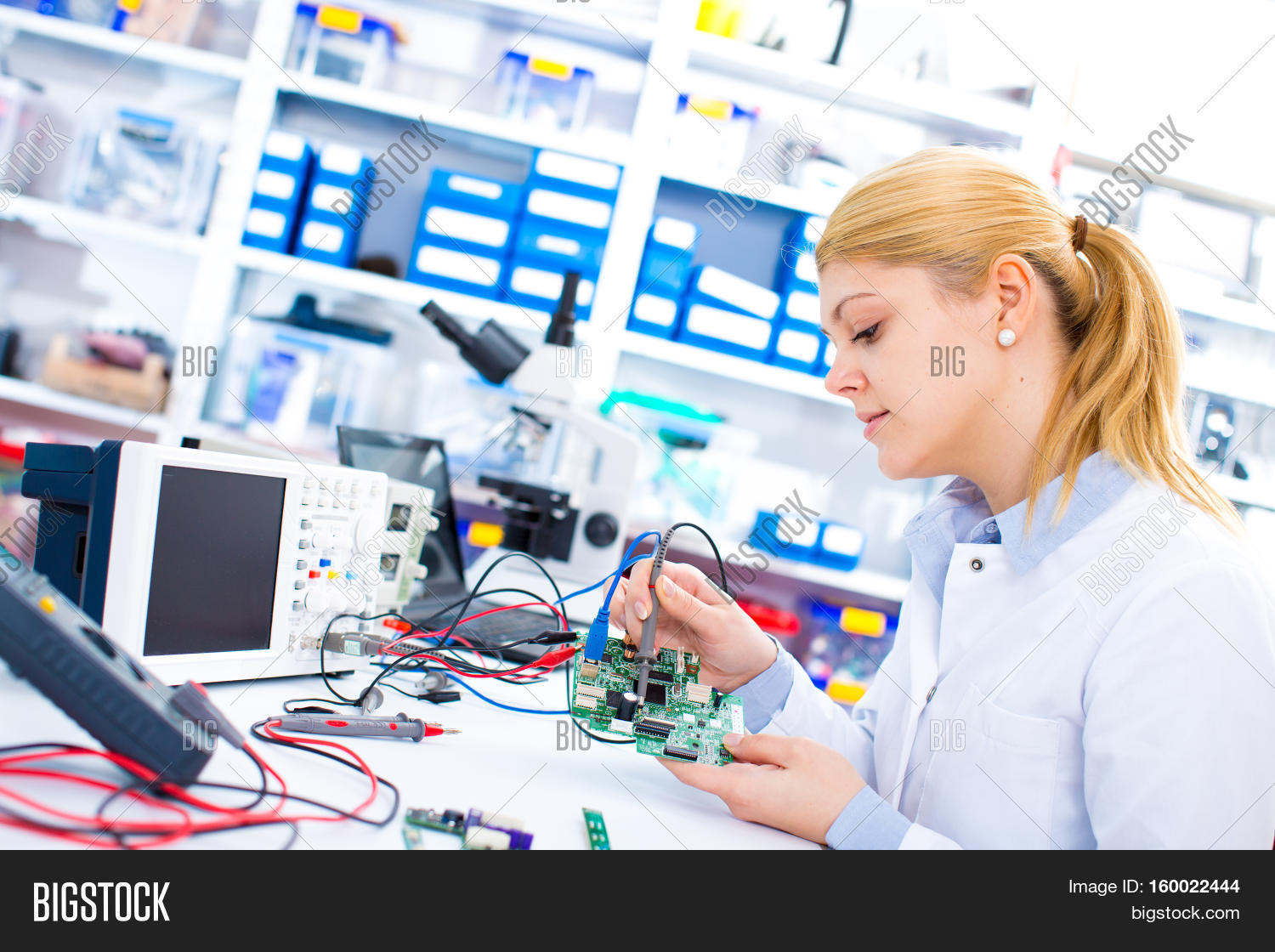 Engineer Working Image Photo Free Trial Bigstock Circuitboardtablejpg With Circuits A Woman Solders Sitting At Table Girl