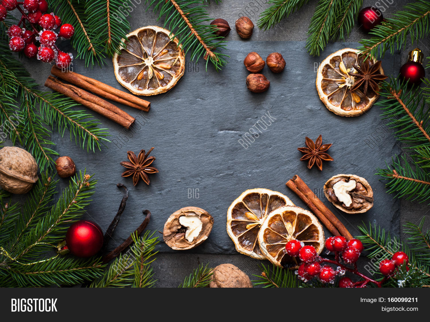 Christmas Top View.Christmas Spices Image Photo Free Trial Bigstock