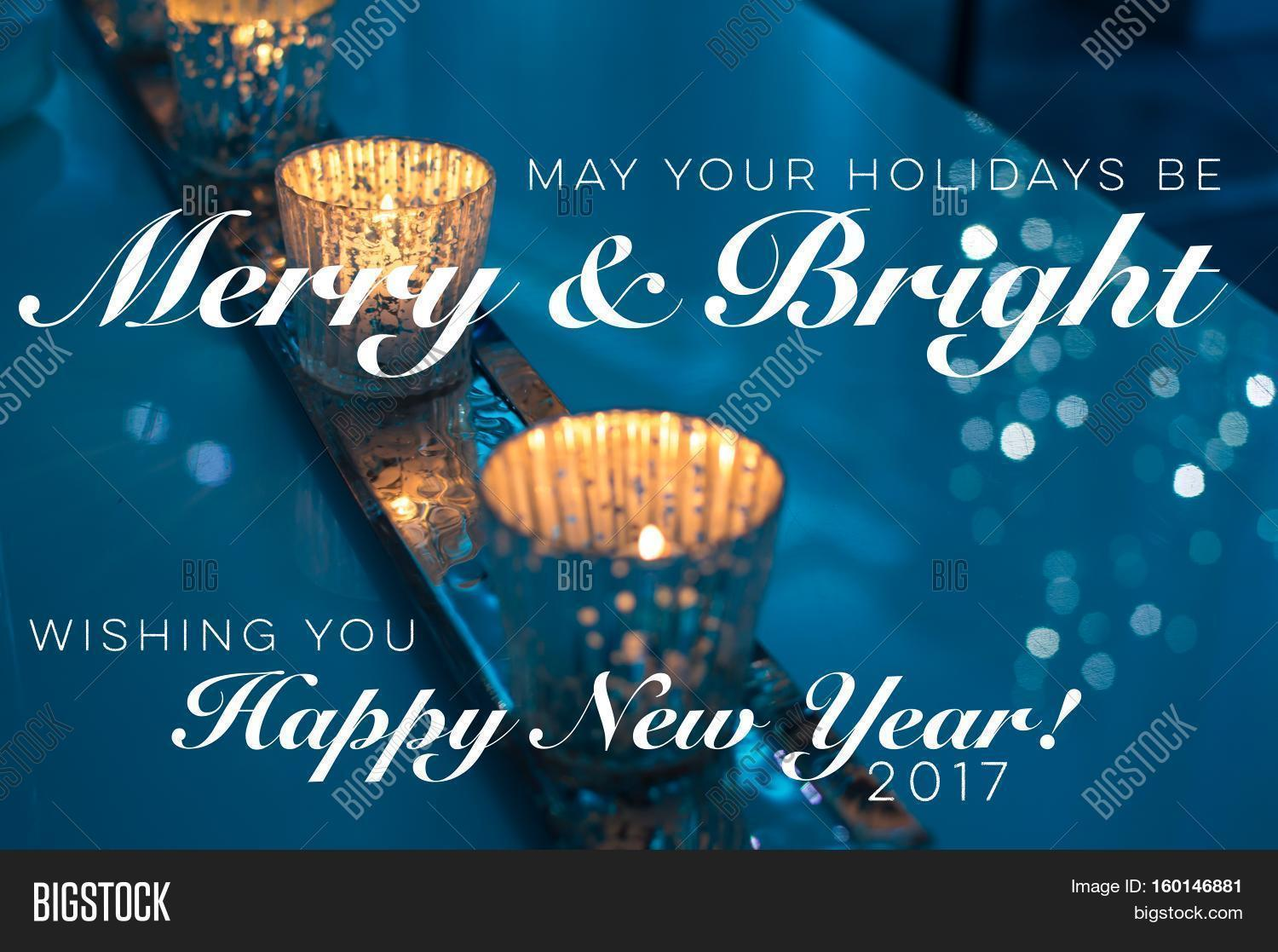 Holiday greeting card image photo free trial bigstock holiday greeting card with new years wishes 2017 non denominational with beautiful candles burning with sparking m4hsunfo