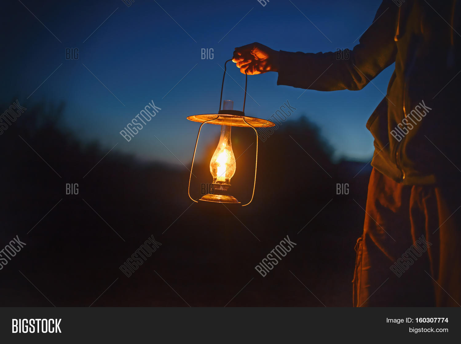 Man Holding Old Lamp Candle Image  for Holding Candle In The Dark  34eri