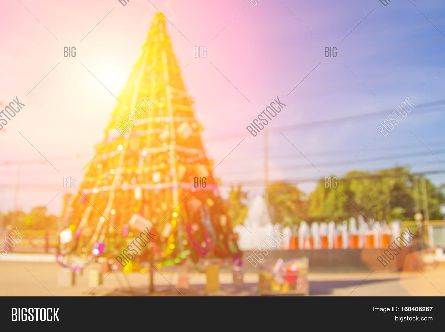 Blurred Christmas Tree Image & Photo (Free Trial) | Bigstock
