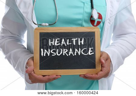 Health Insurance Medical Concept Ill Illness Healthy Young Doctor