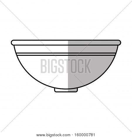 Bowl icon. Hair salon supply utensil and barbershop theme. Isolated design. Vector illustration
