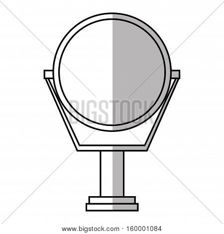 Mirror icon. Hair salon supply utensil and barbershop theme. Isolated design. Vector illustration