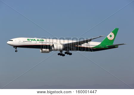 Eva Air Boeing 777-300Er Airplane