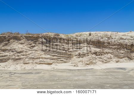 Sand structure in a windy day at Balneario das Gaivotas Santa catarina