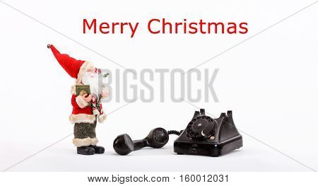 picture of a christmas card .christmas decoration holiday concept