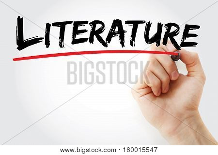 Hand Writing Literature With Marker