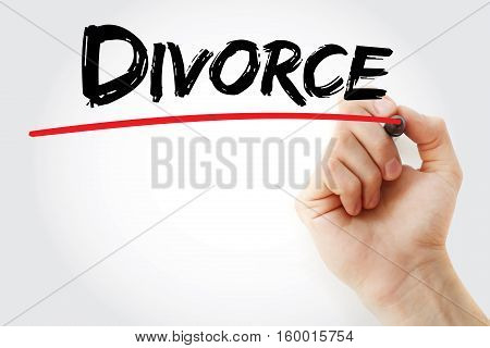 Hand Writing Divorce With Marker