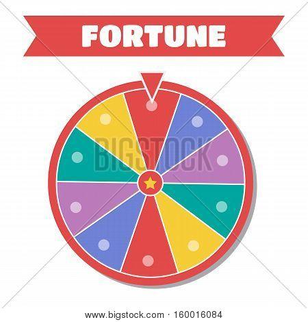 Wheel of fortune vector illustration. Wheel of fortune logo