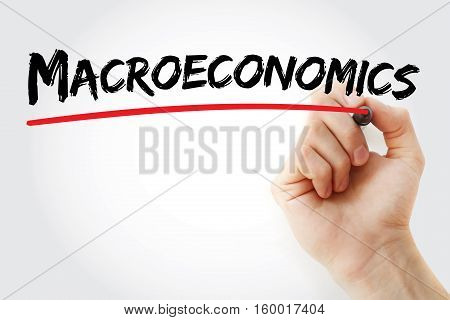 Hand Writing Macroeconomics With Marker