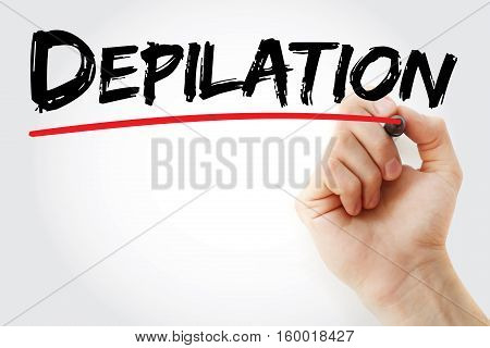 Hand Writing Depilation With Marker