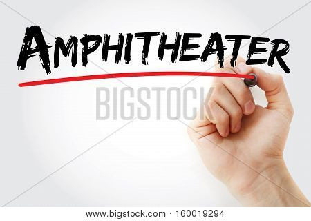 Hand Writing Amphitheater With Marker