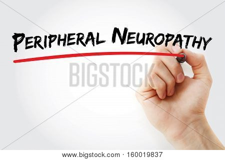 Hand Writing Peripheral Neuropathy