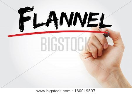 Hand Writing Flannel With Marker