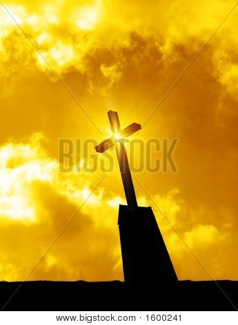 Religious Cross Sunrise / Sunset