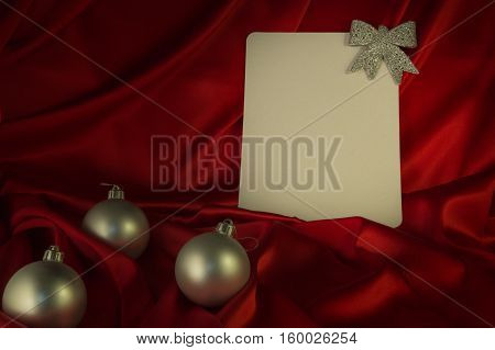 Fiery-red Background For Congratulations On Christmas And New Year