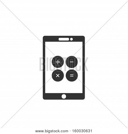 Calculator app sign icon. calculator symbol on smartphone vector, Flat icons