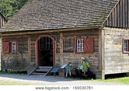 Historical Fort Nisqually In Point Defiance Park, Tacoma