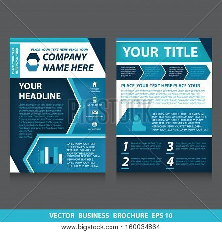 Vector flyers brochure with diagram and icons. Stock vector template easy to use. Size A4. Eps 10