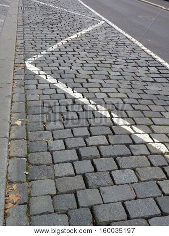 Cobble Stones Street Pattern In A City