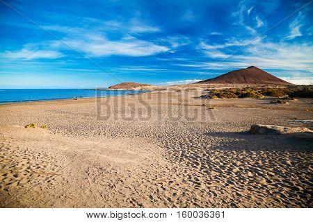 Deserted Sandy Beach Playa El Medano