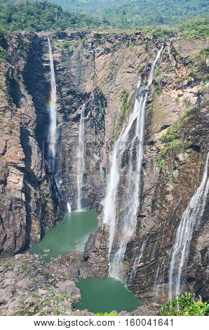 famous Jog falls in the central India