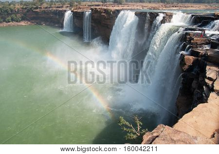 the Chitrakote waterfalls in a central india