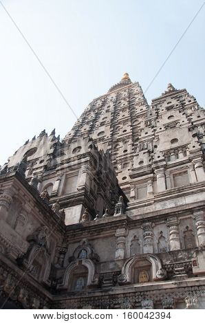 Mahabodhi temple, bodh gaya, India. Buddha attained enlightenment here.