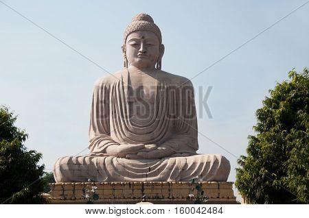 the Great Buddha statue Bodh Gaya India