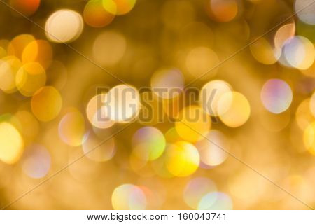 Densely Golden Bokeh For Xmas New Year Theme