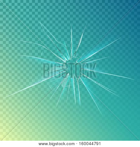 Cracked or broken, shattered glass or mirror. Cracked window or breaking glass abstract background, cracked screen or frame. May be used for destroy or anger, glass or window cracked surface