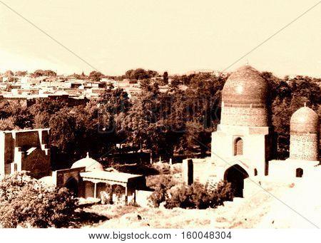 Ensemble of mausoleums Shakhi-Zindah in Samarqand Uzbekistan 1962