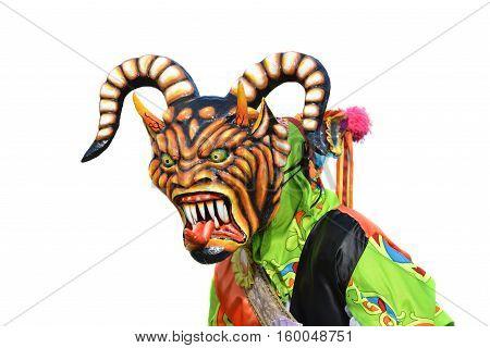 Dancing Demon in The Corpus Christi Feast Celebration at Los Santos Panama