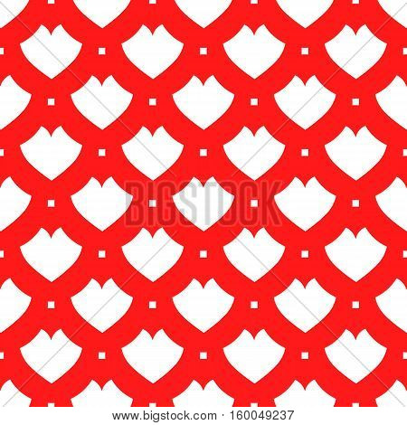 seamless pattern. EPS 10 vector illustration. used for printing websites design decoration interior fabrics etc. red and white poker suit heart